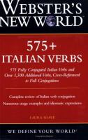 Webster's New World 575+ Italian Verbs