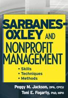 Sarbanes-Oxley and Nonprofit Management