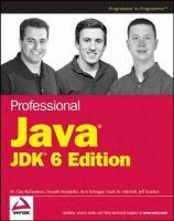 Professional Java, JDK 6 Edition