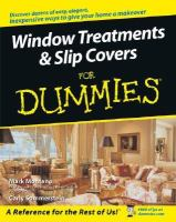 Window Treatments & Slipcovers for Dummies