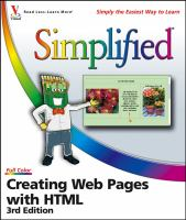 Creating Web Pages With HTML Simplified, 3rd Edition