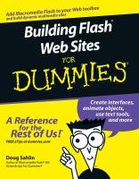 Building Flash Web Sites for Dummies