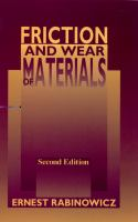 Friction and Wear of Materials