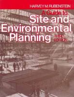 A Guide to Site and Environmental Planning