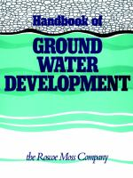 Handbook of Ground Water Development