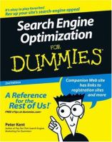 Search Engine Optimization for Dummies, 2nd Edition