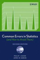Common Errors in Statistics (and How to Avoid Them)