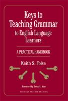 Keys to Teaching Grammar to English Language Learners