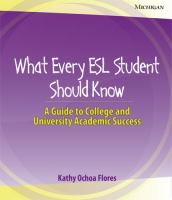 What Every ESL Student Should Know