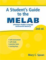 A Student's Guide to the MELAB
