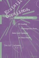 Ecstatic Occasions, Expedient Forms