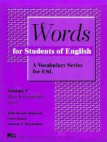 Words for Students of English