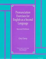 Pronunciation Exercises for Engish as A Second Language