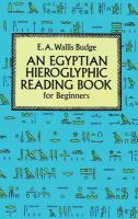 An Egyptian hieroglyphic reading book for beginners