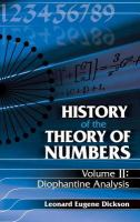 History of the Theory of Numbers