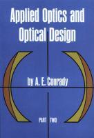 Applied Optics and Optical Design
