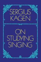 On Studying Singing