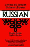 A Phrase and Sentence Dictionary of Spoken Russian