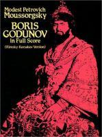 Boris Godunov In Full Score
