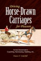 Driving Horse-drawn Carriages for Pleasure
