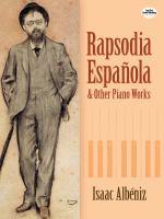 Rapsodia Española and Other Piano Works