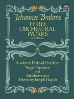 Three orchestral works