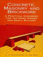 Concrete, Masonry, and Brickwork