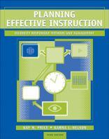 Planning Effective Instruction