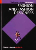 The Thames and Hudson Dictionary of Fashion and Fashion Designers