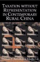 Taxation Without Representation in Contemporary Rural China