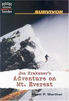 Jon Krakauer's Adventure on Mt. Everest