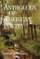 Anthology of American Poetry. 1994 Ed