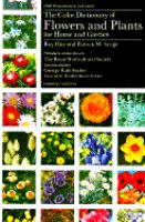 The Color Dictionary Of Flowers And Plants For Home And Garden