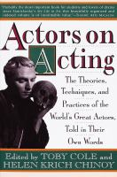 Actors on Acting