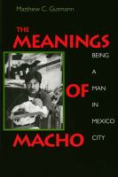Meanings of Macho: Being A Man in Mexico City (Men and Masculinity ; 3)
