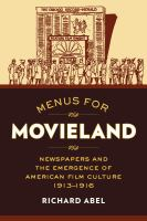 Menus for Movieland
