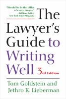 The Lawyer's Guide to Writing Well