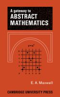 A Gateway to Abstract Mathematics