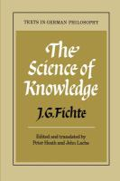 Science of Knowledge ; With the First and Second Introductions