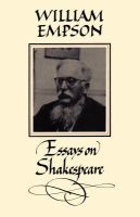 Essays on Shakespeare