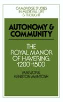 Autonomy and Community