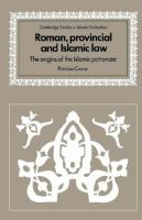 Roman, Provincial, and Islamic Law