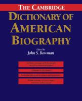 Cambridge Dictionary of American Biography