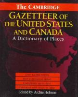 The Cambridge Gazetteer of the United States and Canada