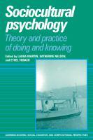 Sociocultural Psychology