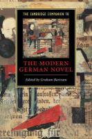 The Cambridge Companion to the Modern German Novel