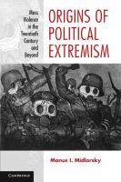 Origins of Political Extremism