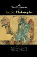 The Cambridge Companion to Arabic Philosophy