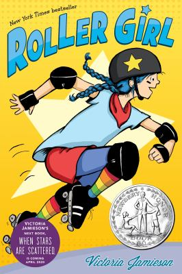 Girl in rollerskates on book cover