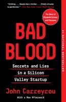 Bad Blood [GRPL Book Club]